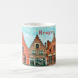 Kind of buildings in the market square of Bruges. Coffee Mug