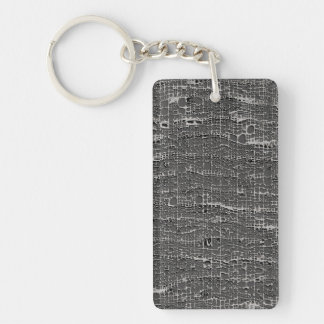 Kind Of Grey Concrete Double-Sided Rectangular Acrylic Keychain