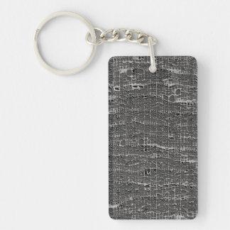 Kind Of Grey Concrete Double-Sided Rectangular Acrylic Keychain