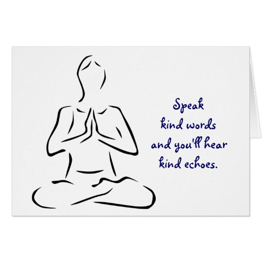Kind Words Yoga Pose Card