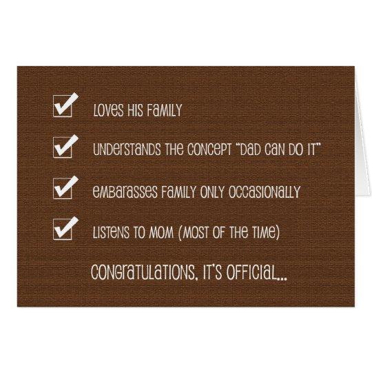 Kinda Funny Fathers Day Card -- #1 Dad Checklist