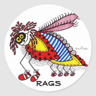 KINDA' LIKE A RAGS BUG CLASSIC ROUND STICKER