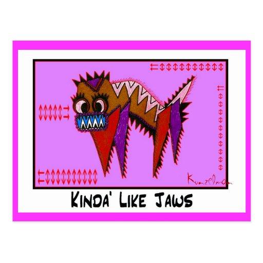 KINDA' LIKE JAWS collectible TRADE Postcard