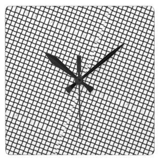 kinda trippy square wall clock
