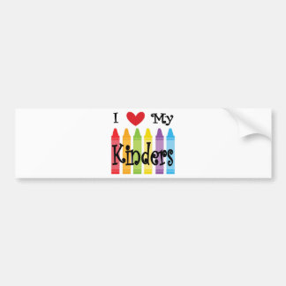 kinder teacher bumper sticker