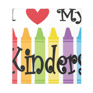 kinder teacher notepad