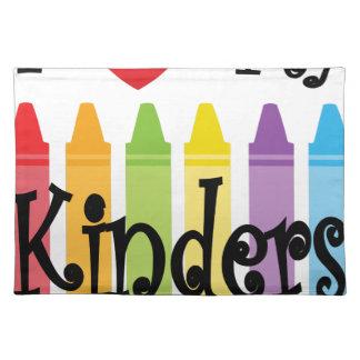 kinder teacher placemat