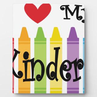 kinder teacher plaque