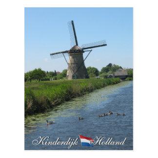 Kinderdijk Windmill Holland Postcard