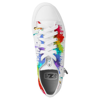 Kinderdykes Rainbow Paint Splatter Low-Top Sneakers