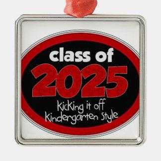 Kindergarten Class of 2025 School Kids Grade Metal Ornament