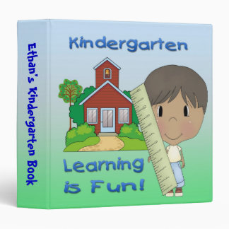 "Kindergarten Ethnic Boy Learning is Fun 1.5"" Binde 3 Ring Binders"
