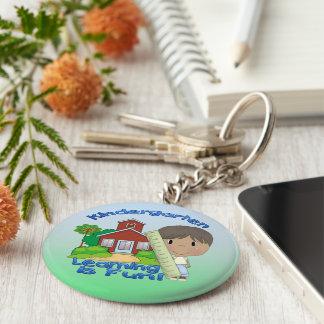 Kindergarten Ethnic Boy Learning is Fun Key Chain