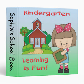 "Kindergarten Girl Learning is Fun 1.5"" Binder"