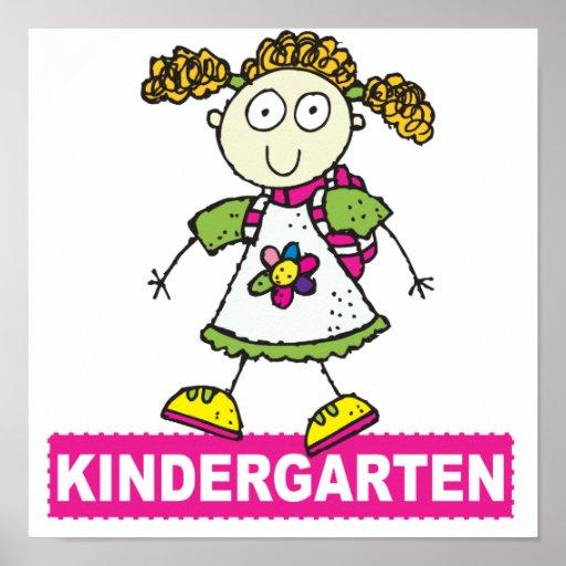 Kindergarten Girl Posters
