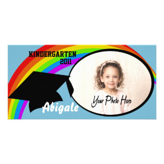 Kindergarten Graduation Photo Announcement Customized Photo Card