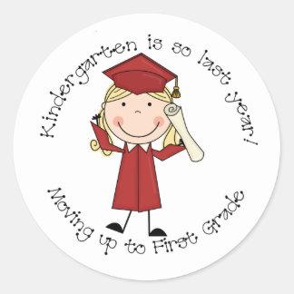 Kindergarten Is So Last Year Sticker (Girl)
