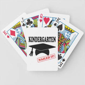 Kindergarten Nailed It Bicycle Playing Cards