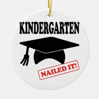Kindergarten Nailed It Ceramic Ornament