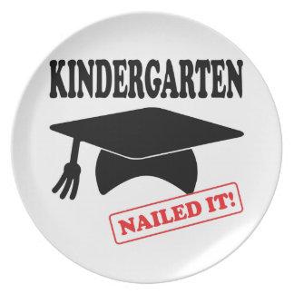 Kindergarten Nailed It Plate