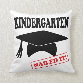 Kindergarten Nailed It Throw Pillow