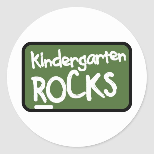 Kindergarten Rocks T-shirt Classic Round Sticker