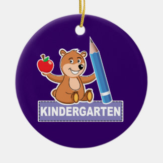 Kindergarten Round Ceramic Ornament