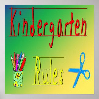 Kindergarten Rules Poster