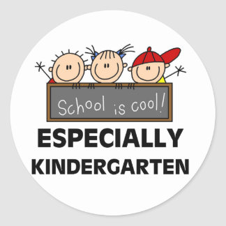 Kindergarten School is Cool Round Sticker