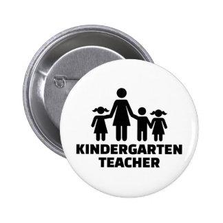 Kindergarten teacher 2 inch round button