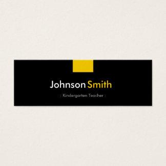 Kindergarten Teacher - Amber Yellow Compact Mini Business Card
