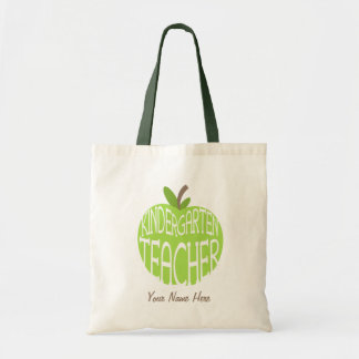 Kindergarten Teacher Bag - Green Apple
