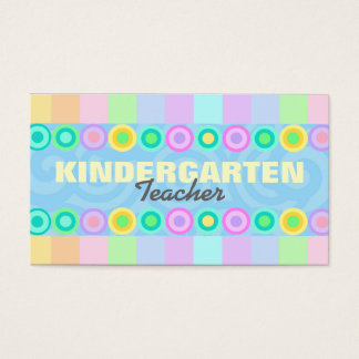Kindergarten Teacher business cards