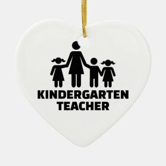 Kindergarten teacher ceramic ornament