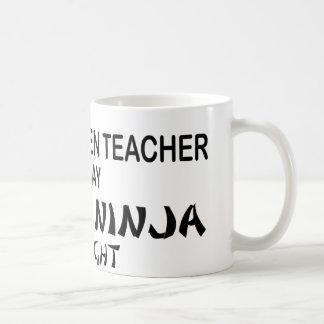 Kindergarten Teacher Deadly Ninja Coffee Mug