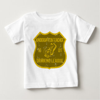 Kindergarten Teacher Drinking League Baby T-Shirt