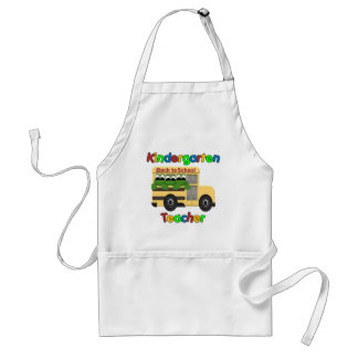 Kindergarten Teacher Froggie Bus Standard Apron