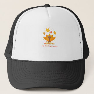 Kindergarten Teacher Funny Thanksgiving Turkey Trucker Hat