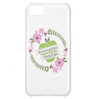 Kindergarten Teacher Green Apple Floral Wreath Case For iPhone 5C