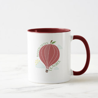 Kindergarten Teacher Hot Air Balloon Apple