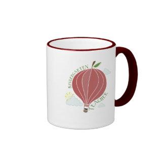 Kindergarten Teacher Hot Air Balloon Apple Ringer Mug