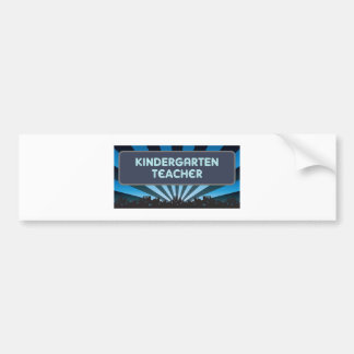 Kindergarten Teacher Marquee Bumper Sticker