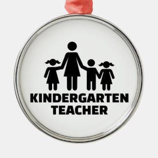Kindergarten teacher metal ornament