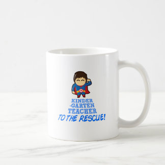 Kindergarten Teacher, Teacher To The Rescue Coffee Mug