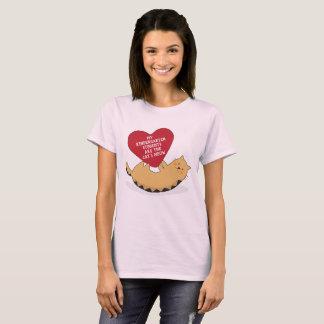 Kindergarten Teacher Valentine's Day Cat T-Shirt
