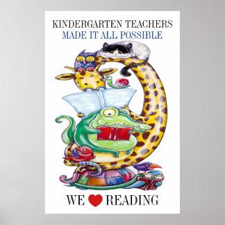 Kindergarten - We Love Reading! Poster