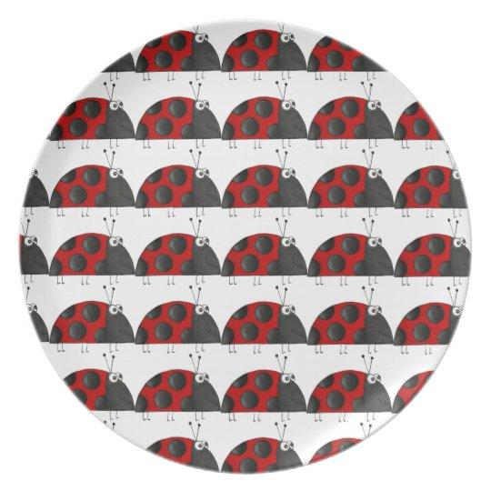 Kinderteller ladybird, child table-ware plate