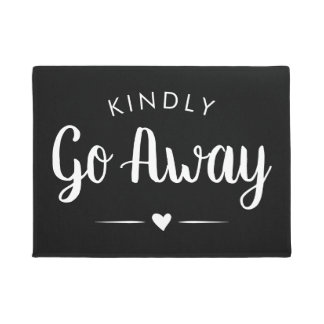 Kindly Go Away Calligraphy - Introvert Funny Doormat