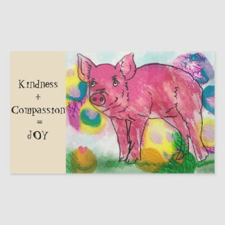 Kindness and Compassion, give joy, plant based Sticker