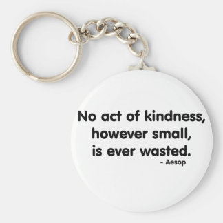 Kindness Basic Round Button Keychain